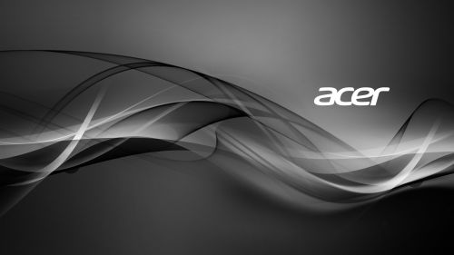 Acer Aspire black and white wallpaper