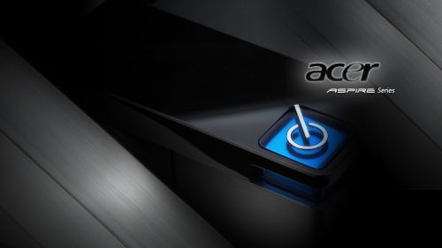 Black Acer power button wallpaper