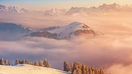 switzerland mountains clouds